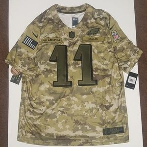 detailed look 70377 e5edc Carson Wentz Eagles Salute to Service NFL Jersey NWT